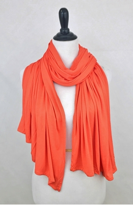 Picture of Orange Maxi Jersey Shawl