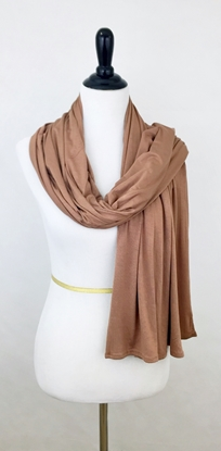 Picture of Coffee Maxi Jersey Shawl