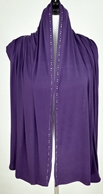 Picture of Eggplant Purple Jersey Wrap with Rhinestones