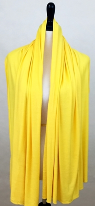 Picture of Yellow Comfy Chic Cotton Jersey Hijab