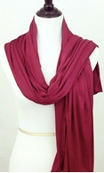 Picture of Maroon Comfy Chic Cotton Jersey Wrap