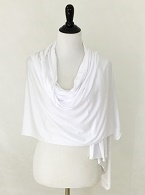 Picture of White Comfy Chic Cotton Jersey Wrap
