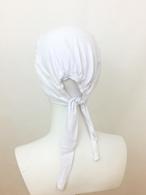 Picture of White Tie Back Bonnet - Turlu Fabric