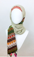 Picture of Solid & Tribal Print Border