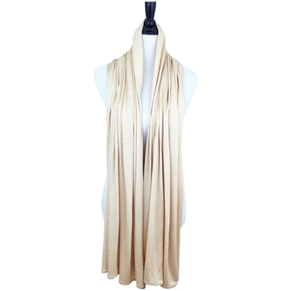 Picture of Beige Maxi Jersey Shawl