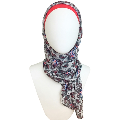 Picture of Chiffon Paisley Patterned Scarf