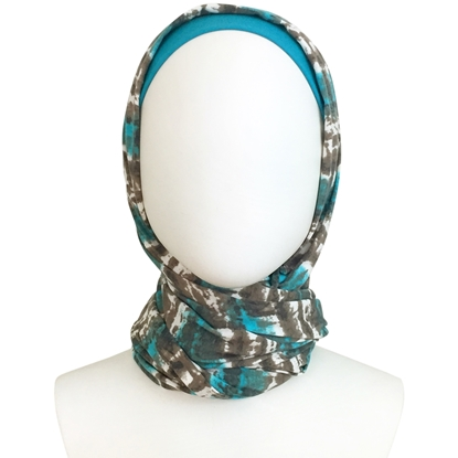 Picture of Turquoise Cedar Cotton Jersey Wrap