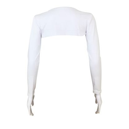 Picture of White One Piece Connected Arm Sleeves
