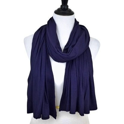Picture of Navy Blue Maxi Jersey Shawl