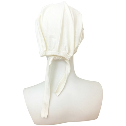 Picture of Hijab Off-White Tie Back Bonnet - Turlu Fabric