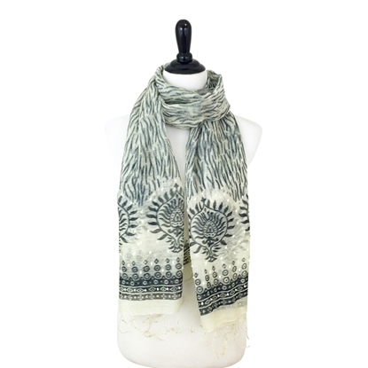 Picture of Pearly Branch Printed Scarf