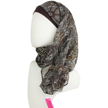 Picture of Shimmer Paisley Patterned Scarf