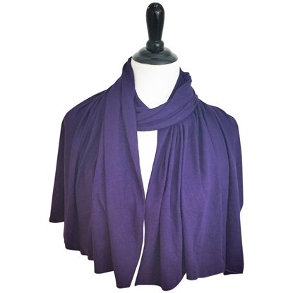 Picture of Deep Eggplant Cotton Jersey Wrap