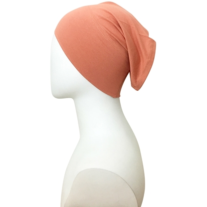 Picture of Dark Peach Tube Cap - Turlu Fabric