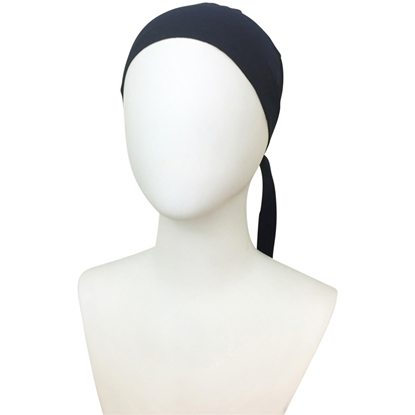 Picture of Hijab Navy Tie Back Bonnet - Turlu Fabric