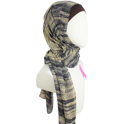 Picture of Chiffon Beige  Grey Stripes