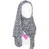 Picture of Patterned Chiffon Hijab Blue Grey
