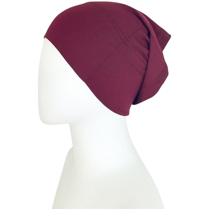 Picture of Hijab Side Seams Sumac Maroon Tube Undercap