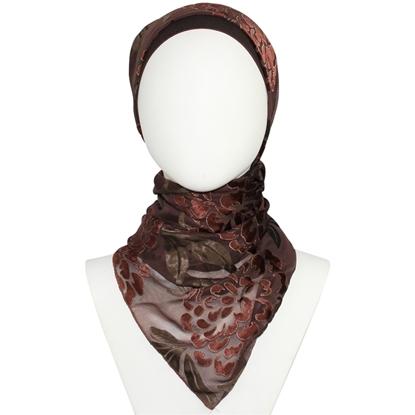 Picture of Chiffon Chamois Brown Hijab