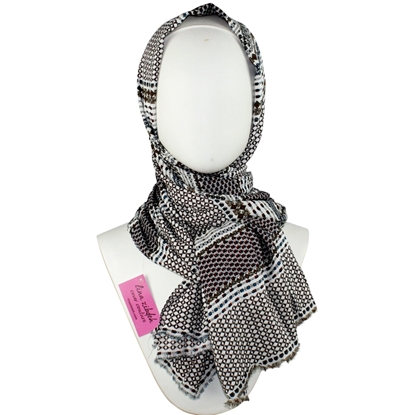 Picture of Cooling Patterned Stripes Scarf