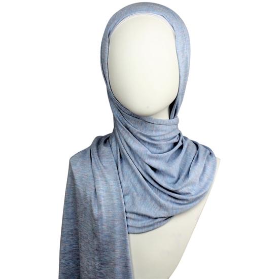 Picture of Sky-Blue Jersey Hijab Soft & Drapey  5 Subtle Tones