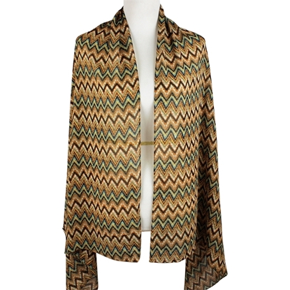 Picture of Chiffon ZigZag Brown shades