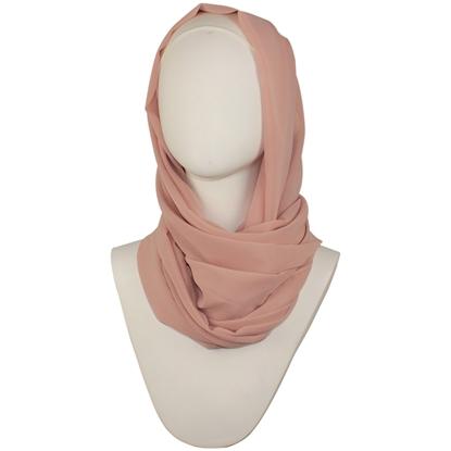 Picture of Chiffon Hijab Blush Neutral - Textured