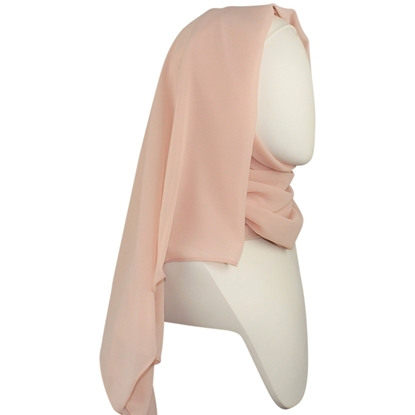 Picture of Chiffon Hijab  Pale Blush Neutral