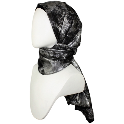 Picture of Stormy Black & Silver  Formal Hijab