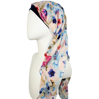 Picture of Everyday Blush Floral Chiffon Hijab