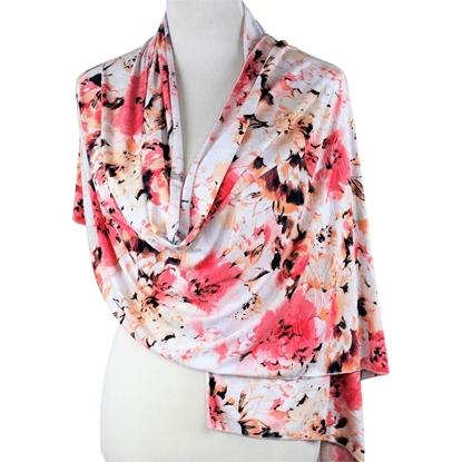 floral patterned jersey hijab