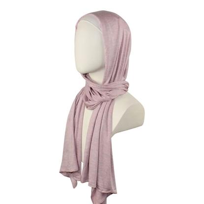 purple cotton jersey hijab