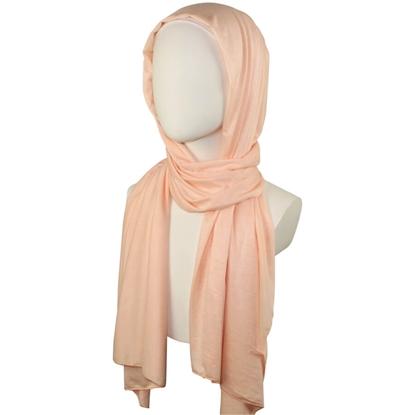 peach cotton jersey hijab