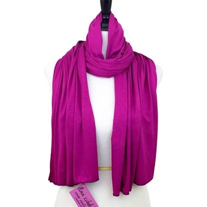 cotton jersey hijab burgundy