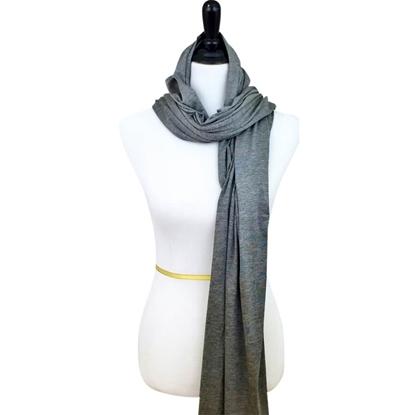 cotton jersey hijab charcoal grey