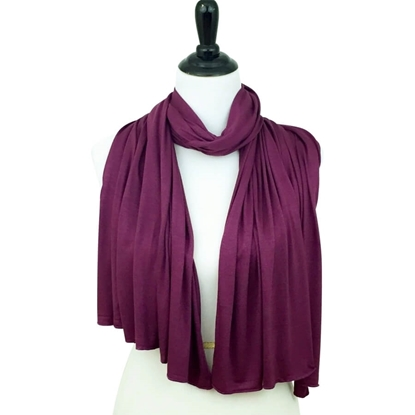plum cotton jersey hijab