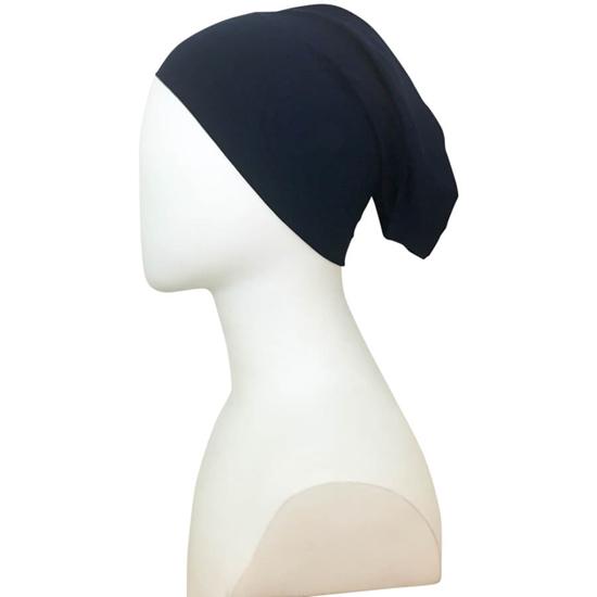 navy blue tube cap   hijab undercap