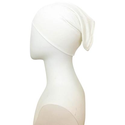 off white tube cap | hijab undercap
