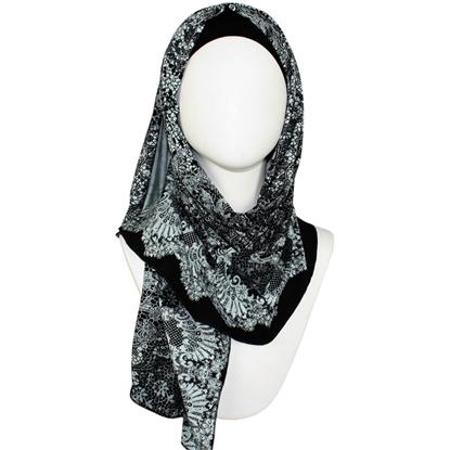 patterned jersey hijab | Lina Zibdeh