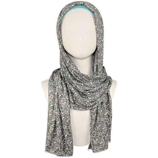 Picture of Everyday Patterned Cotton Jersey Hijab