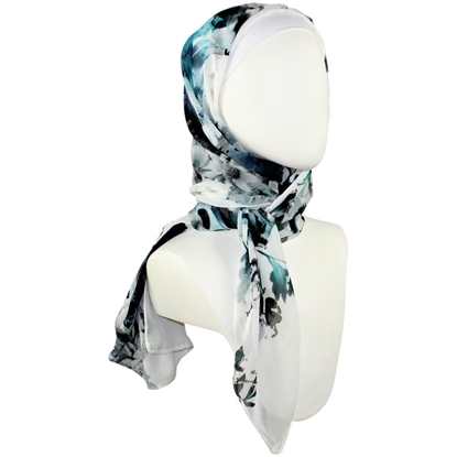 Picture of For the Love of Teal! Chiffon Hijab Scarf