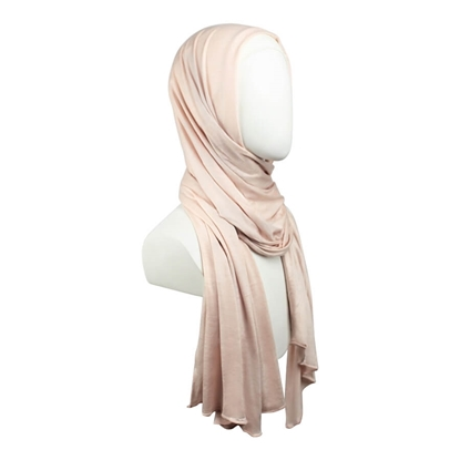 Picture of Kuwaiti Pale Blush Jersey Hijab