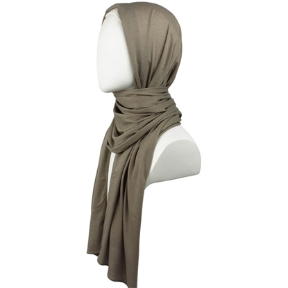 Picture of Kuwaiti Neutral Brownish Olive Waffle Print Hijab