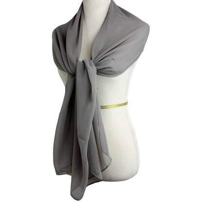 Picture of Basic Grey Chiffon Hijab