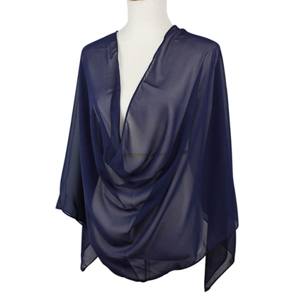 Picture of Basic Navy Blue Chiffon Hijab