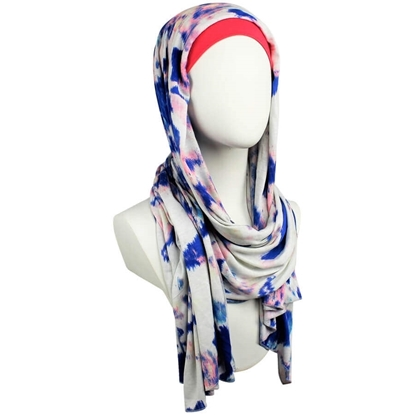 Picture of A Breath of Fresh Air Patterned Jersey Hijab