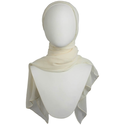 Picture of Basic Ivory Chiffon Hijab