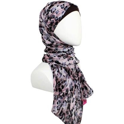 Picture of Leopard Print Chiffon Hijab