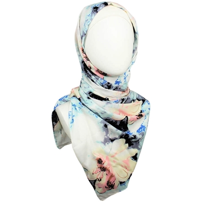 Picture of Pastel Floral Patterned Rayon Hijab