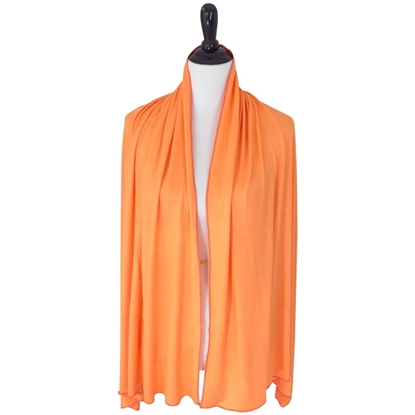 Picture of Orange Comfy Chic Cotton Jersey Hijab